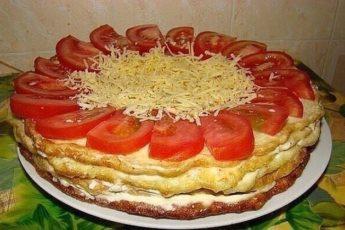 Закусочный торт из кабачков — хит этого сезона